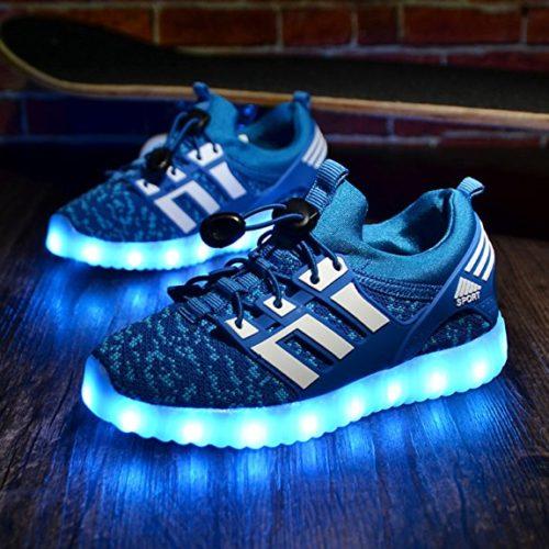 LED leuchtende bunte Sneaker Turnschuhe